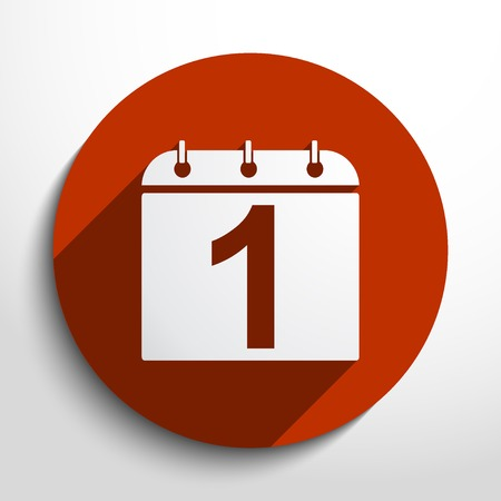 calendar organizer web flat icon in circle