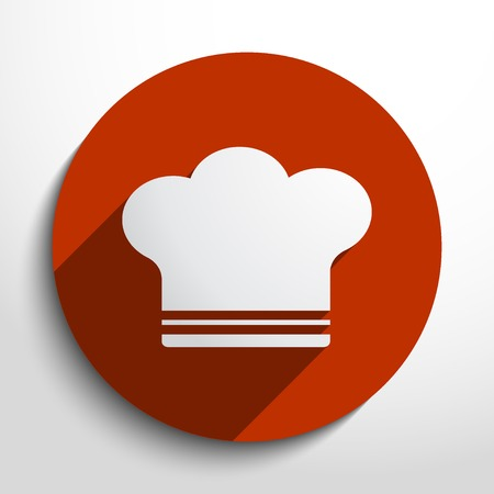 cooking cap web flat icon in circle