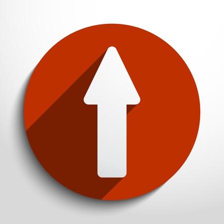 Vector arrow icon. Eps 10 vector illustration.
