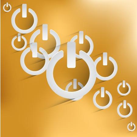 On Off switch icon illustration.