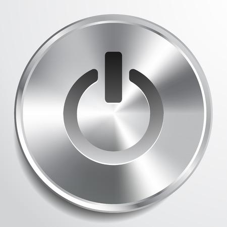 On Off switch icon vector illustration.  イラスト・ベクター素材