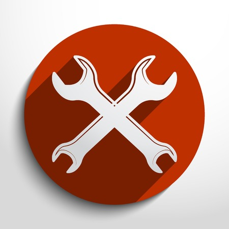 rework: spanners web flat icon in circle