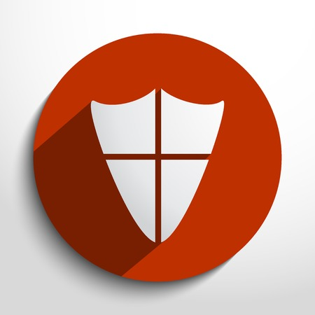 shield web flat icon in circle Vector