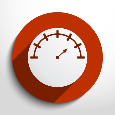 manometer web flat icon in circle Vector