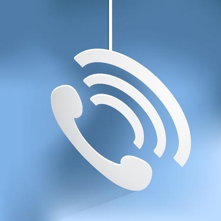 handset: phone handset icon illustration. Illustration