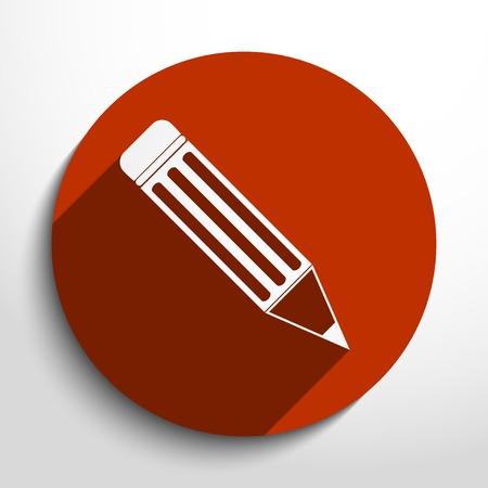 Vector pencil web flat icon in circle Vector