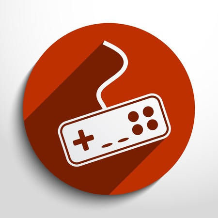 portable console: joystick web flat icon in circle Illustration