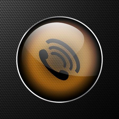phone handset: telefono icona cornetta illustrazione.