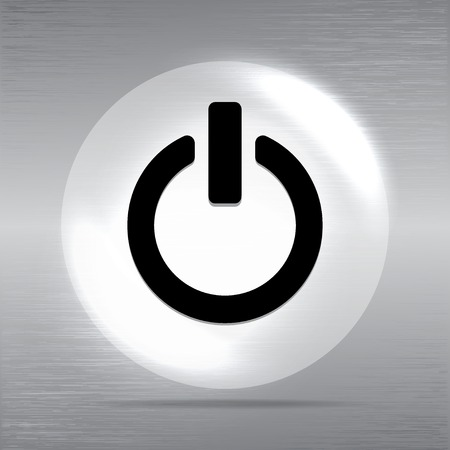 trigger: On Off switch icon illustration.