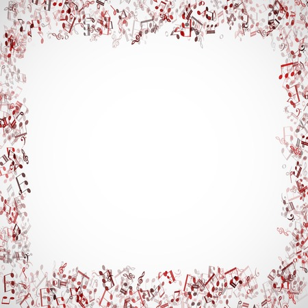 abstract music chords background illustration Vector