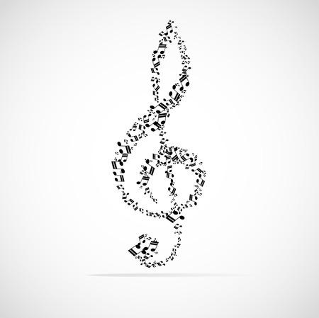 Abstract musical background illustration. Illustration