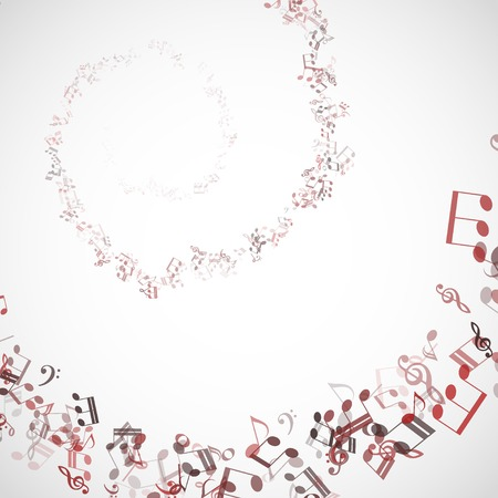 abstract music chords background illustration. Vector