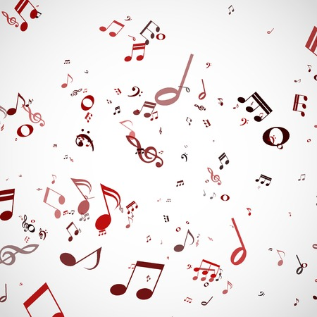notes musical: abstract music chords background illustration.