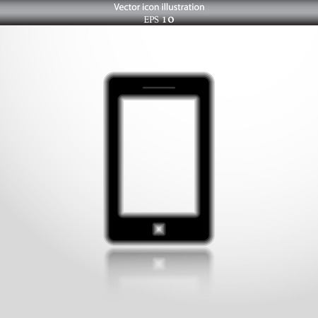 Vector smart phone web flat icon. Isolated on white.
