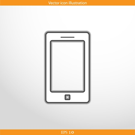 reach customers: Vector smart phone web flat icon. Isolated on white.