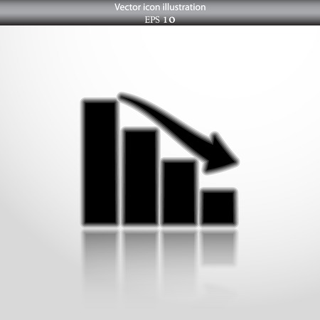 Vector chart web flat icon. Isolated on white.