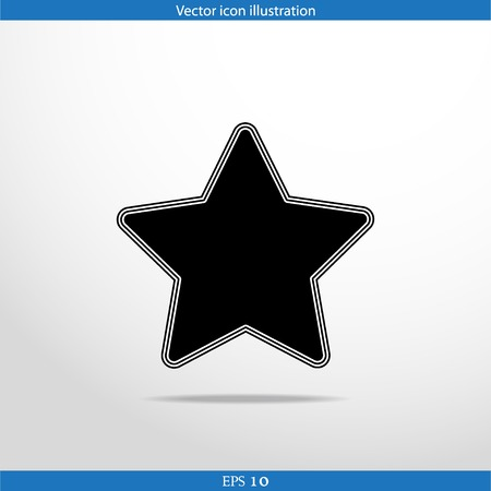 Vector star web flat icon. Isolated on white. Vector