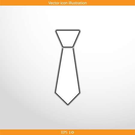 taylor: Vector necktie web flat icon. Isolated on white.