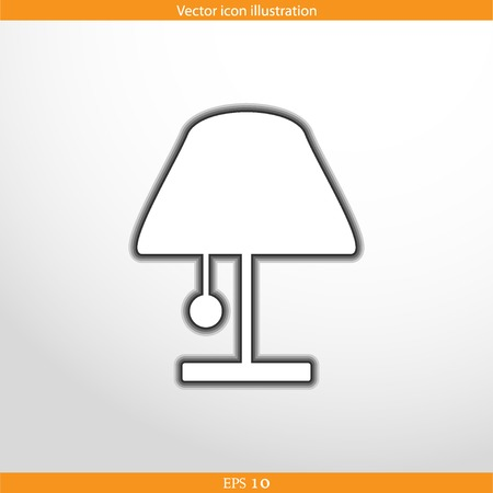 Vector lamp web flat icon in circle
