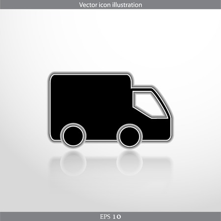 Vector delivery web flat icon in circle Illustration