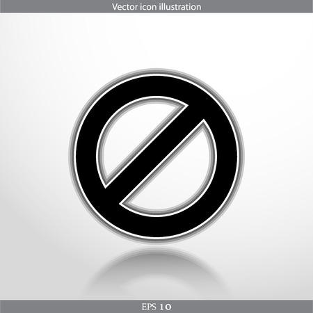 Vector not allowed sign web flat icon in circle Illustration