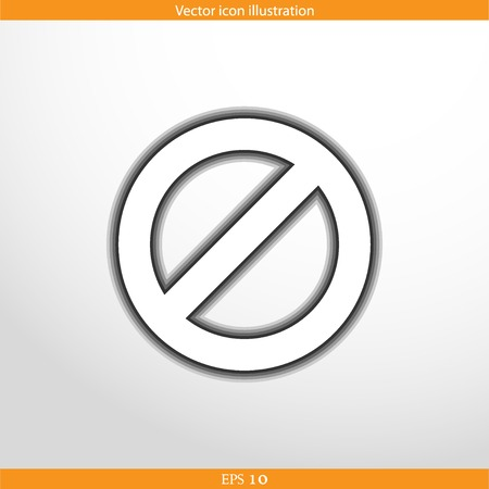 not allowed: Vector not allowed sign web flat icon in circle Illustration
