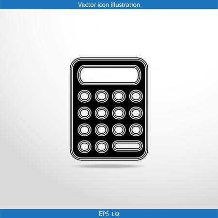 Vector calculator web flat icon in circle Vector