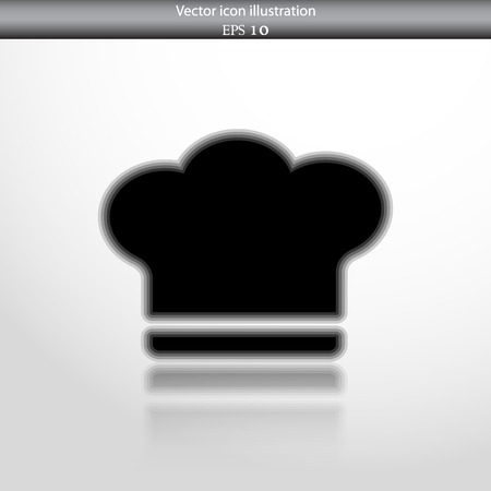 replaceable: Vector cooking cap web flat icon in circle