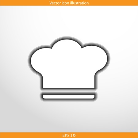 fine cuisine: Vector cooking cap web flat icon in circle
