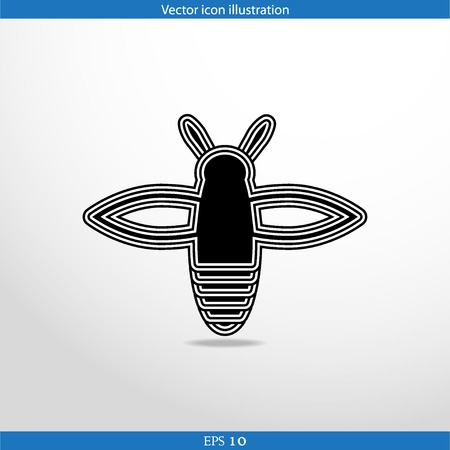 Vector bee web flat icon in circle