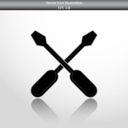 reconditioning: Vector repair web flat icon. Eps 10. Illustration
