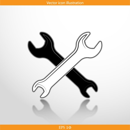 rework: Vector repair web flat icon. Eps 10. Illustration