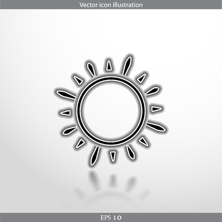 Vector sun web flat icon. Isolated on white. Illustration