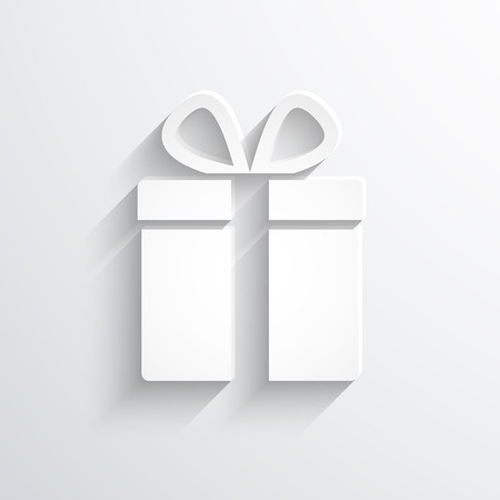 gift flat web icon illustration. Stock Photo