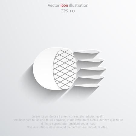 halogen: Car headlight web flat icon. Eps 10 illustration. Illustration