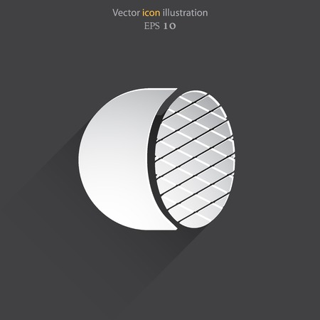 headlight: Car headlight web flat icon. Eps 10 illustration. Illustration