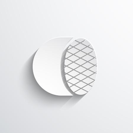 headlight: Car headlight web flat icon. Eps 10 illustration. Stock Photo