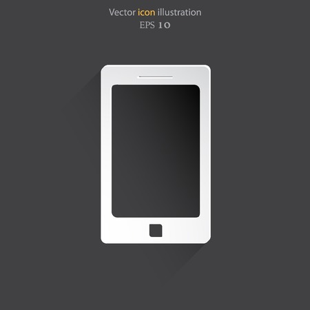 get in touch: Vector smart phone icon. Eps 10 vector illustration.