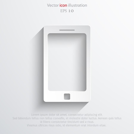 approach: Vector smart phone icon. Eps 10 vector illustration.
