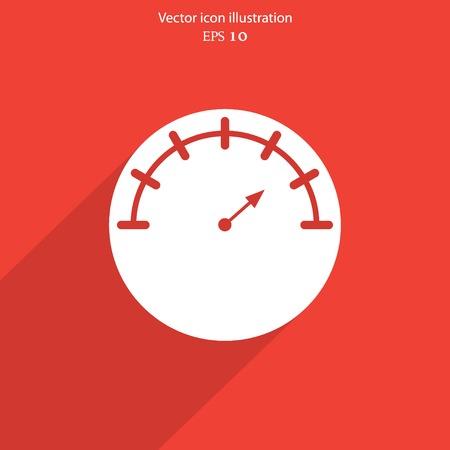 Vector manometer web flat icon. Eps 10 illustration. Vector