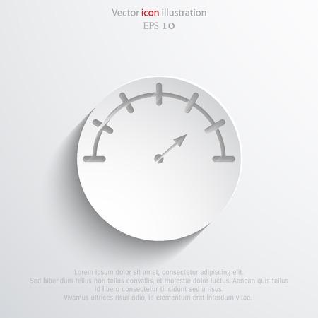 manometer: Vector manometer web flat icon. Eps 10 illustration.