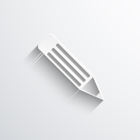 Vector pencil web flat icon. Eps 10 illustration.
