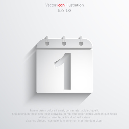 Vector calendar organizer web flat icon. Eps 10 illustration.