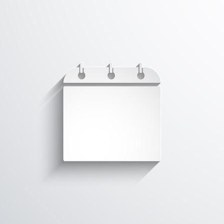 Vector calendar organizer web flat icon. Eps 10 illustration.