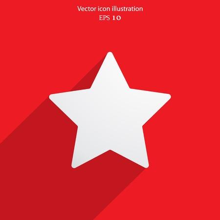 Vector star web flat icon. Eps 10. Vector