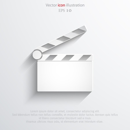 Vector clapperboard web flat icon. Eps 10 illustration. Illustration