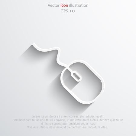 peripherals: Vector pc mouse web flat icon. Eps 10 illustration. Illustration