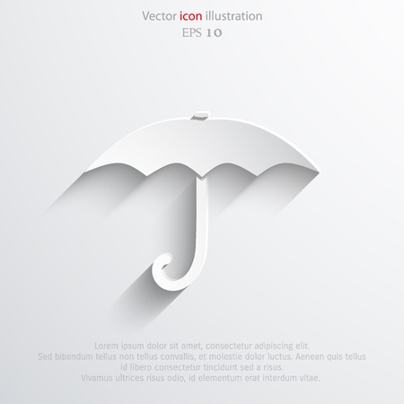 nylon: Vector umbrella web flat icon. Eps 10 illustration.