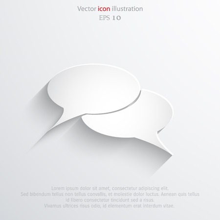 Vector speech bubble web flat icon. Eps 10 illustration. Illustration