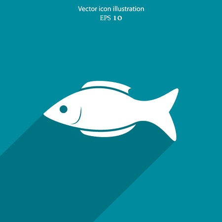 Vector fish web flat icon. Eps 10 illustration. Illustration